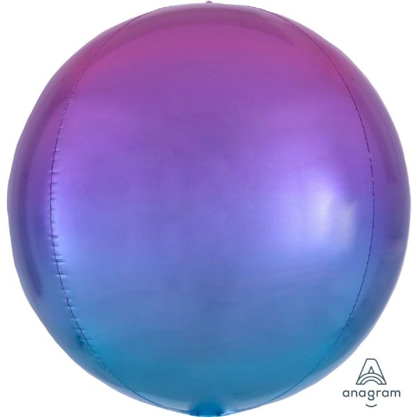 Ombre Pink & Blue Round Orbz 15in Balloon